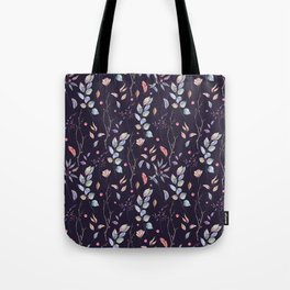 Watercolor natural pattern with twigs Tote Bag