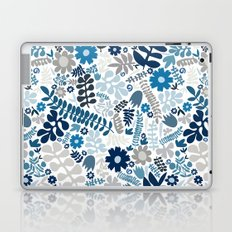 blue and natural wildflowers Laptop & iPad Skin