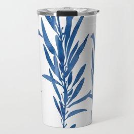 Eucalyptus Branches Blue Travel Mug