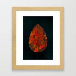 Shiva's teardrop Framed Art Print
