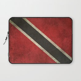 Old and Worn Distressed Vintage Flag of Trinidad and Tobago Laptop Sleeve