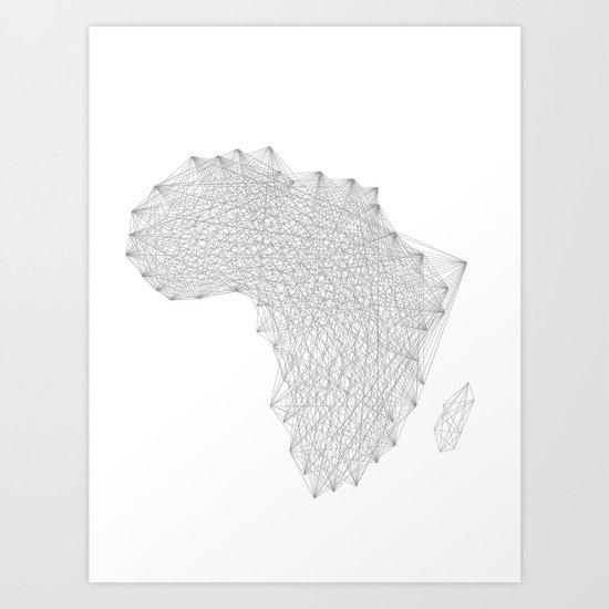 Vector Africa Art Print
