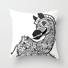 Twisted Zebra Throw Pillow