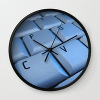 computer Wall Clocks featuring computer by laika in cosmos