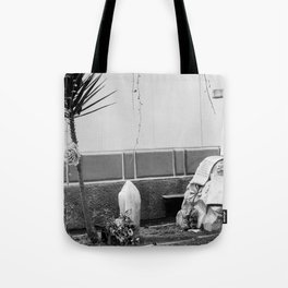 Grave with rose Tote Bag