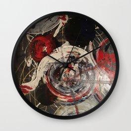 Pollock Swirls Wall Clock