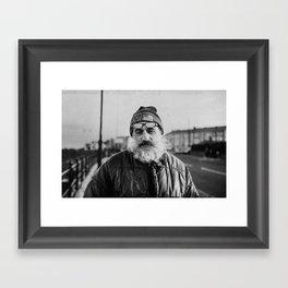 Fisherman's portrait Framed Art Print