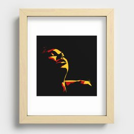 Rust and Gold Recessed Framed Print