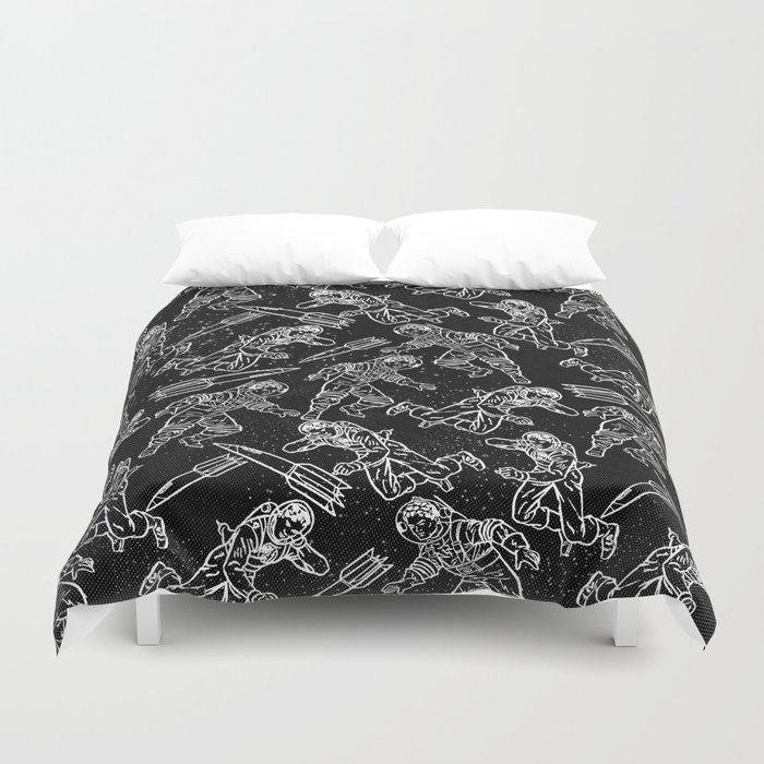 Space Travellers-Fun Doodles - Mix and Match with Simplicity of Life Duvet Cover