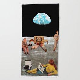 U.S. Lands on Moon Beach Towel