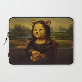 Mona Lisa Bear Laptop Sleeve