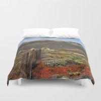 big sur Duvet Covers featuring Big Sur Mountains by Jeremiah Wilson