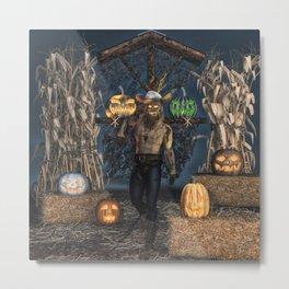 Scarecrow Reaper Metal Print