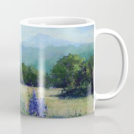 Delphiniums with Mtn View Coffee Mug