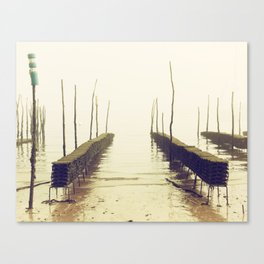 Foggy afternoon in Cap-Ferret Canvas Print