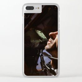 Apollo 7 - Looking At The Stars Clear iPhone Case