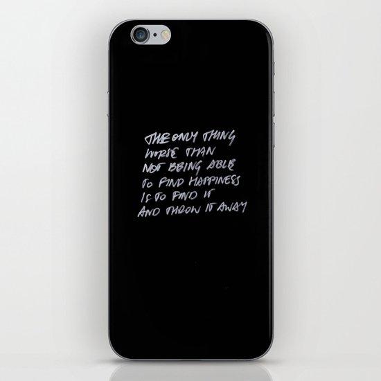 Throw Away iPhone & iPod Skin