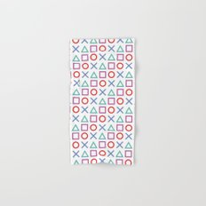 Gamer Pattern Color on White Hand & Bath Towel