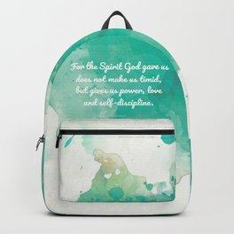 2 Timothy 1:7, Inspiring Bible Verse Backpack