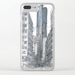 Hong Kong. Burrows street Clear iPhone Case