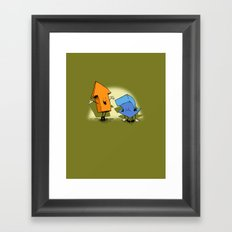 the up and down show! Framed Art Print