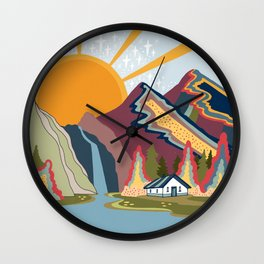 My heart is at peace now Wall Clock
