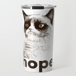 GRUMPY CAT - Nope (version 2) Travel Mug