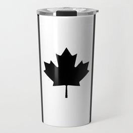 Canada: Black Military Flag Travel Mug