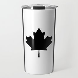 Canada: Black Military Flag Travel Mug