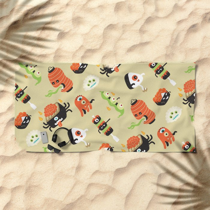 Izakaya Monsters Beach Towel