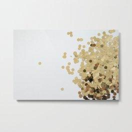 Glitz-Gold Metal Print