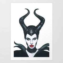 Maleficent Drawing Art Print