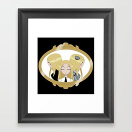 Terra Trinity in black Framed Art Print