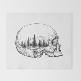 SKULL/FOREST Throw Blanket