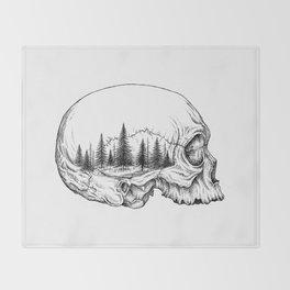 SKULL/FOREST Throw Blanket