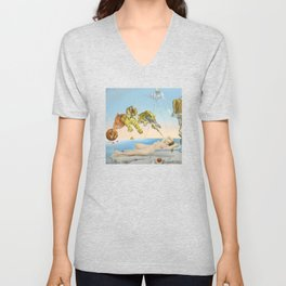 Dalì - Dream Caused by the Flight of a Bee Around a Pomegranate a Second Before Awakening Unisex V-Neck