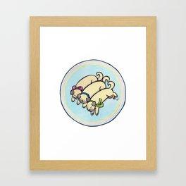 Snug as a Pug on a Rug Framed Art Print