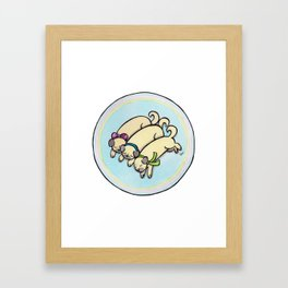 Snug as a Pug on a Rug Framed Art Print
