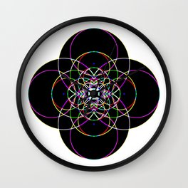 abstract colorful fractal Wall Clock
