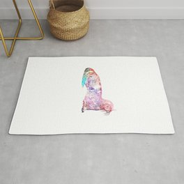 Otter Galaxy Distressed Rug