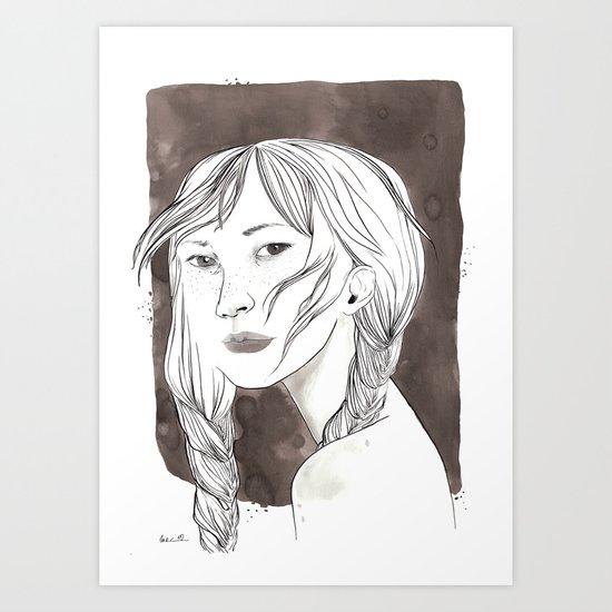 Don't look Art Print