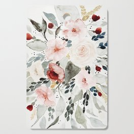 Loose Watercolor Bouquet Cutting Board