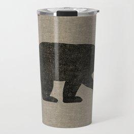 Black Bear Silhouette Travel Mug