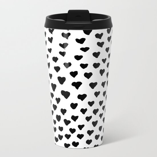 Black Heart Metal Travel Mug