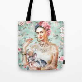 Frida's Exotic Cat Tote Bag