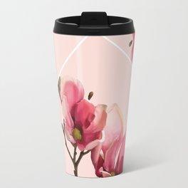 Pink Magnolia Blossoms Travel Mug