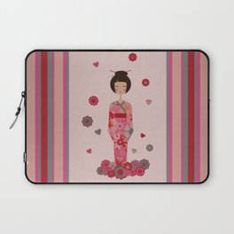 Kokeshi Geisha Japan Laptop Sleeve