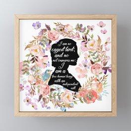 Jane Eyre Quote Framed Mini Art Print