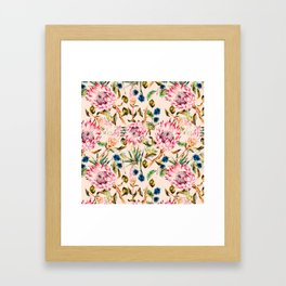 Pattern boho floral Framed Art Print