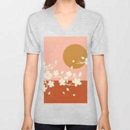 Sakura Blossom Bliss Unisex V-Neck